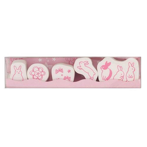 【KODOMO NO KAO】動物印章組-兔子