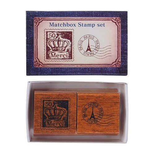 【KODOMO NO KAO】火柴盒印章組-郵票&郵戳