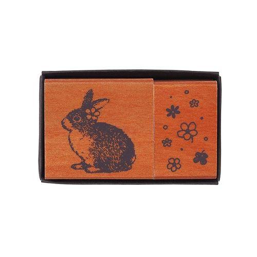 【KODOMO NO KAO】女孩風印章組-兔子與小花