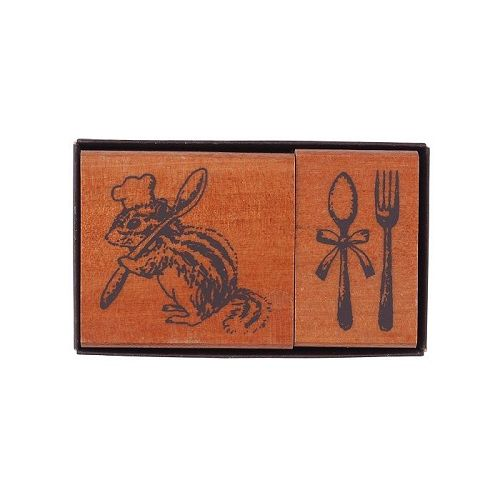 【KODOMO NO KAO】女孩風印章組-鼬鼠與餐具