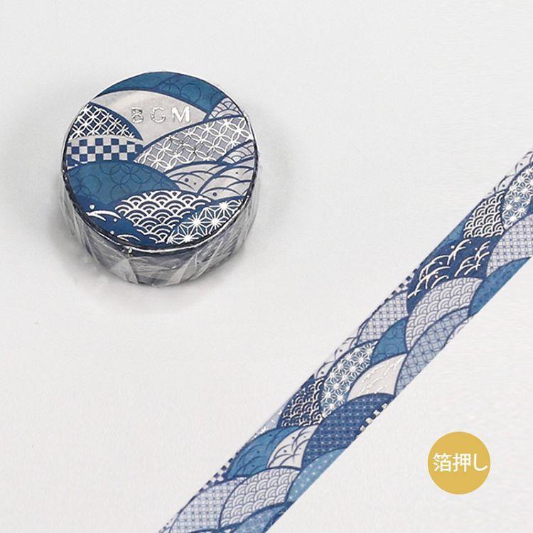 【BGM】和紙膠帶金箔大和物語系列-波紋