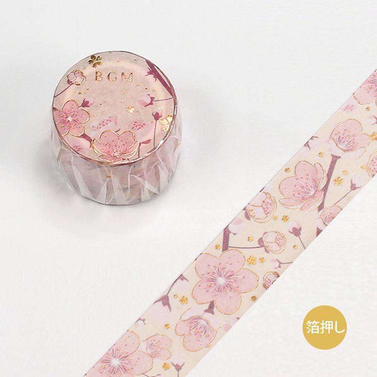 【BGM】和紙膠帶金箔寬版大和物語系列-櫻花