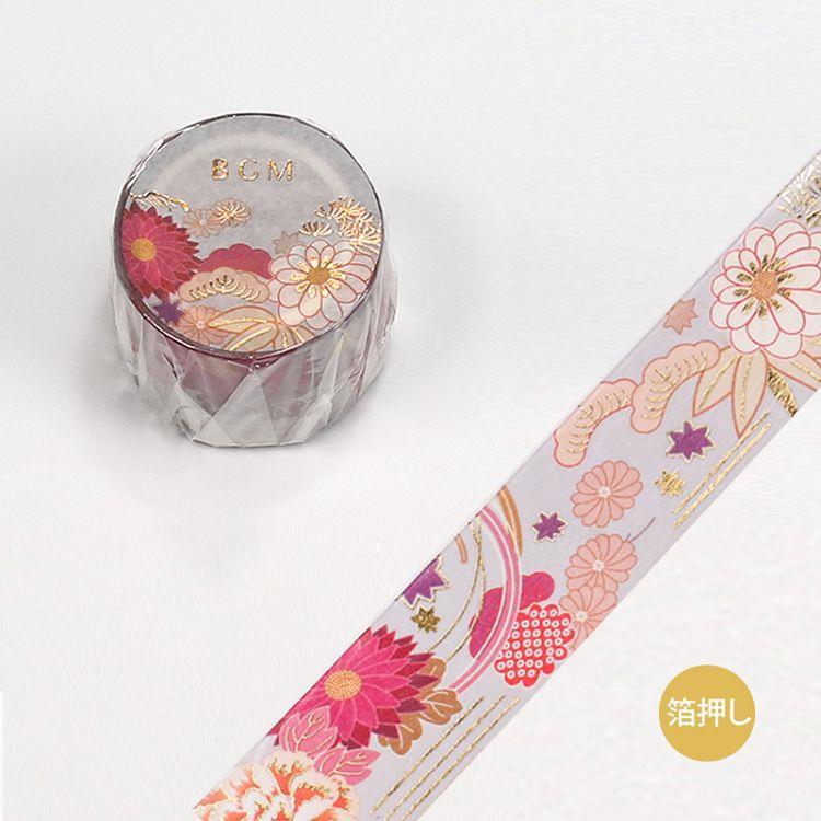 【BGM】和紙膠帶金箔寬版大和物語系列-花的季節