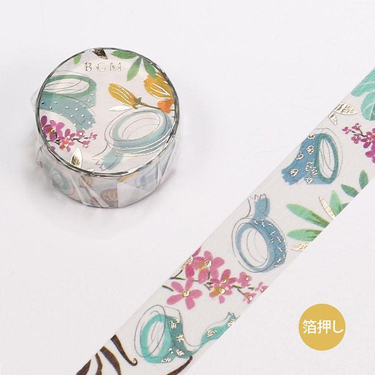 【BGM】和紙膠帶金箔女子文具系列-紙膠帶