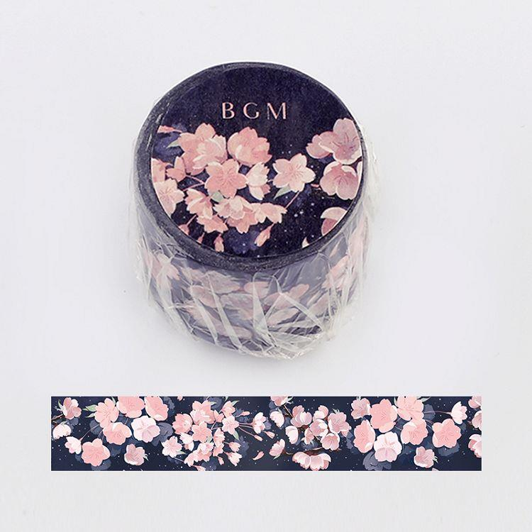 【BGM】和紙膠帶寬版Special櫻系列-夜櫻