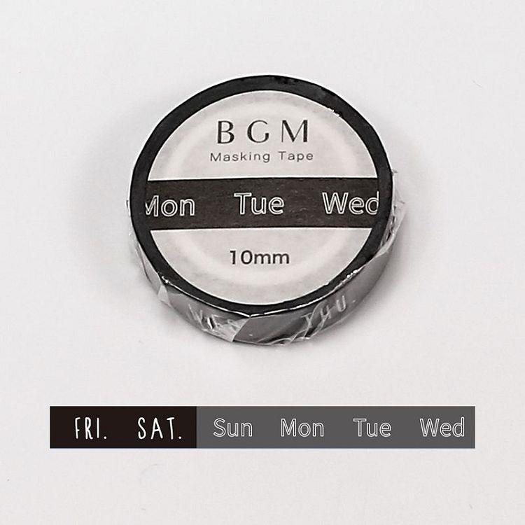 【BGM】和紙膠帶細版Special記事系列-星期