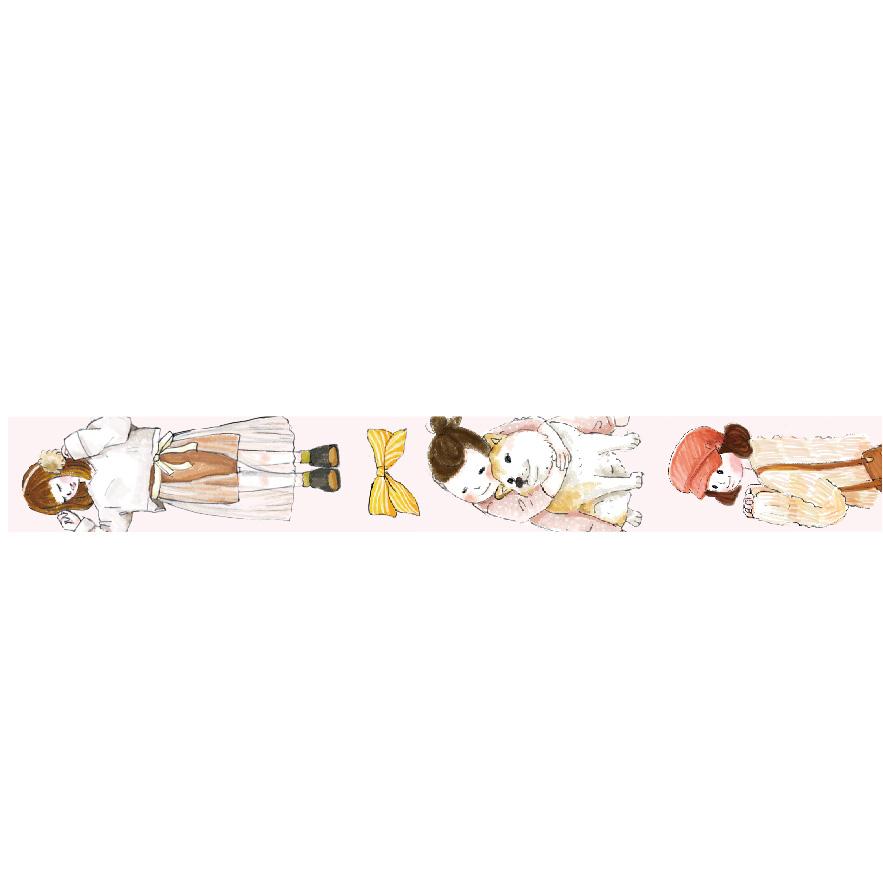 三瑩和紙15mm紙膠帶-女孩日常