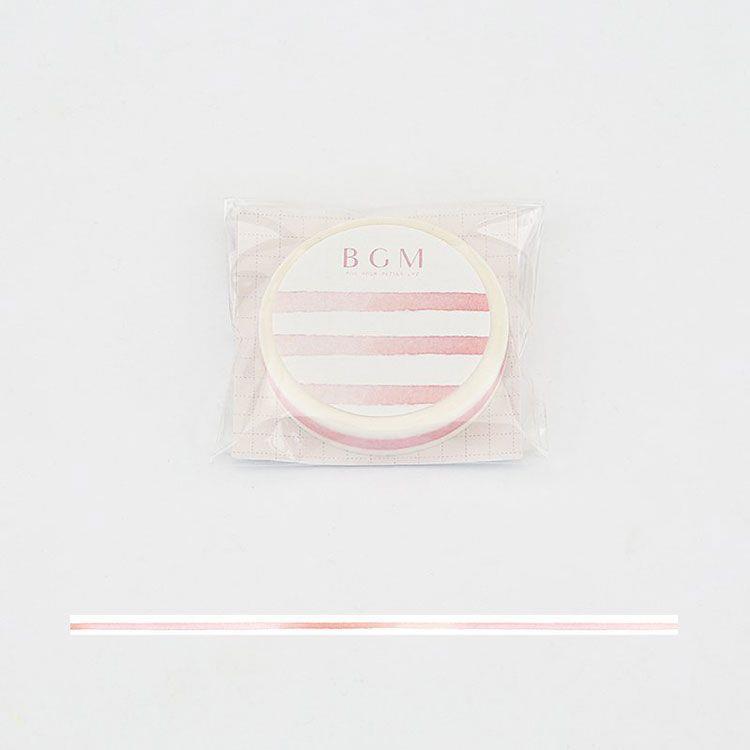 【BGM】和紙膠帶細版Special櫻系列-緞帶