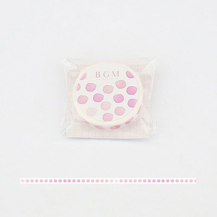 【BGM】和紙膠帶細版Special櫻系列-水玉