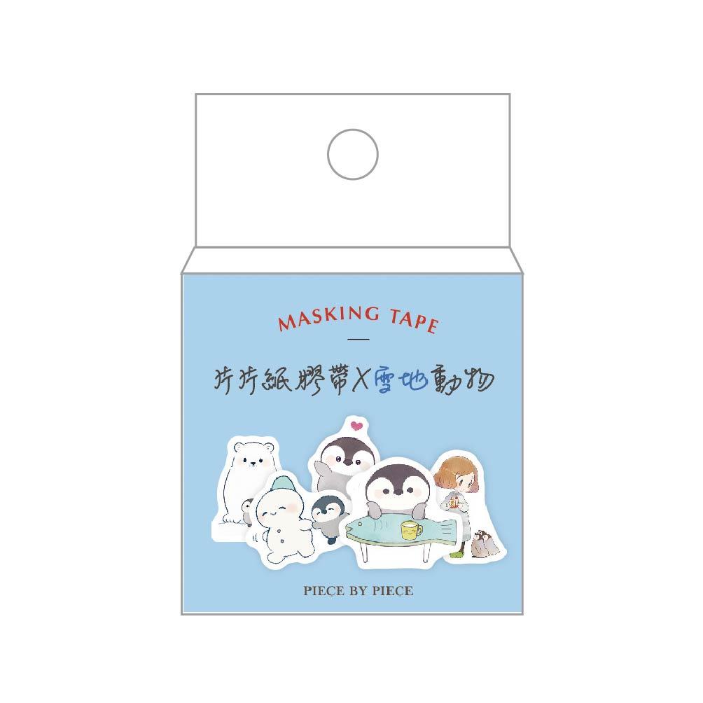 簡單生活-片片紙膠帶-雪地動物(80枚)