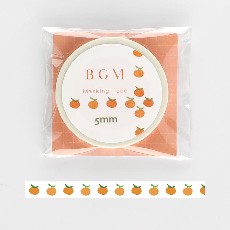 【BGM】和紙膠帶細版Life系列-蜜柑
