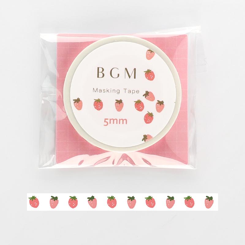 【BGM】和紙膠帶細版Life系列-草莓