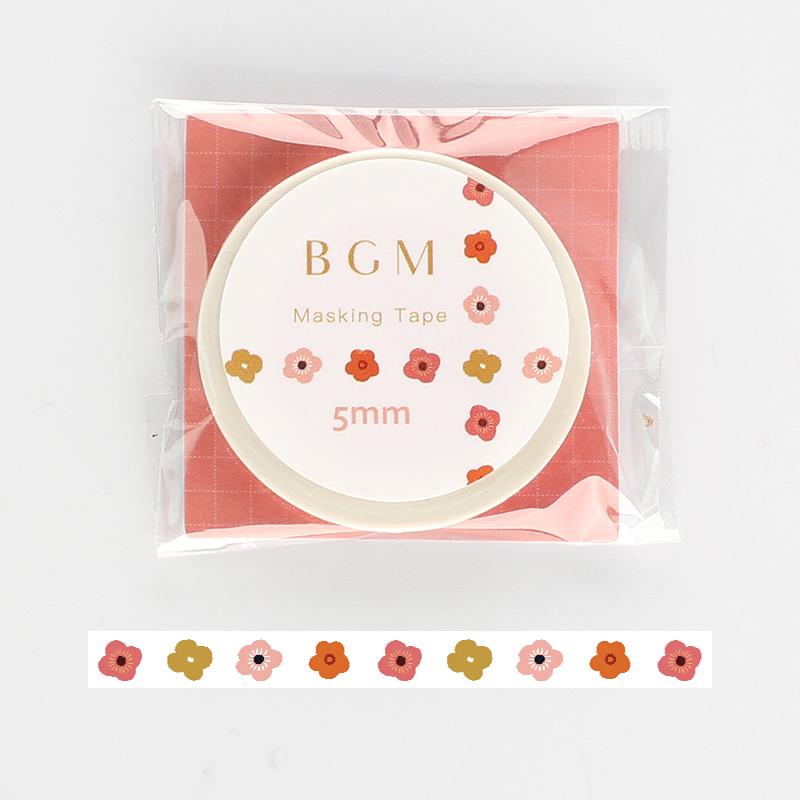 【BGM】和紙膠帶細版Life系列-小花