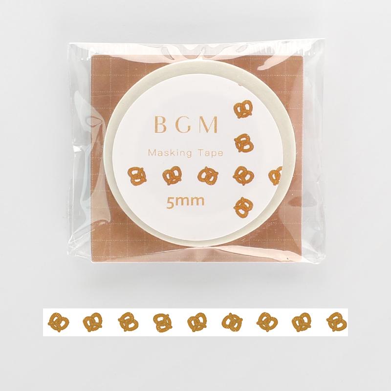 【BGM】和紙膠帶細版Life系列-椒鹽脆餅
