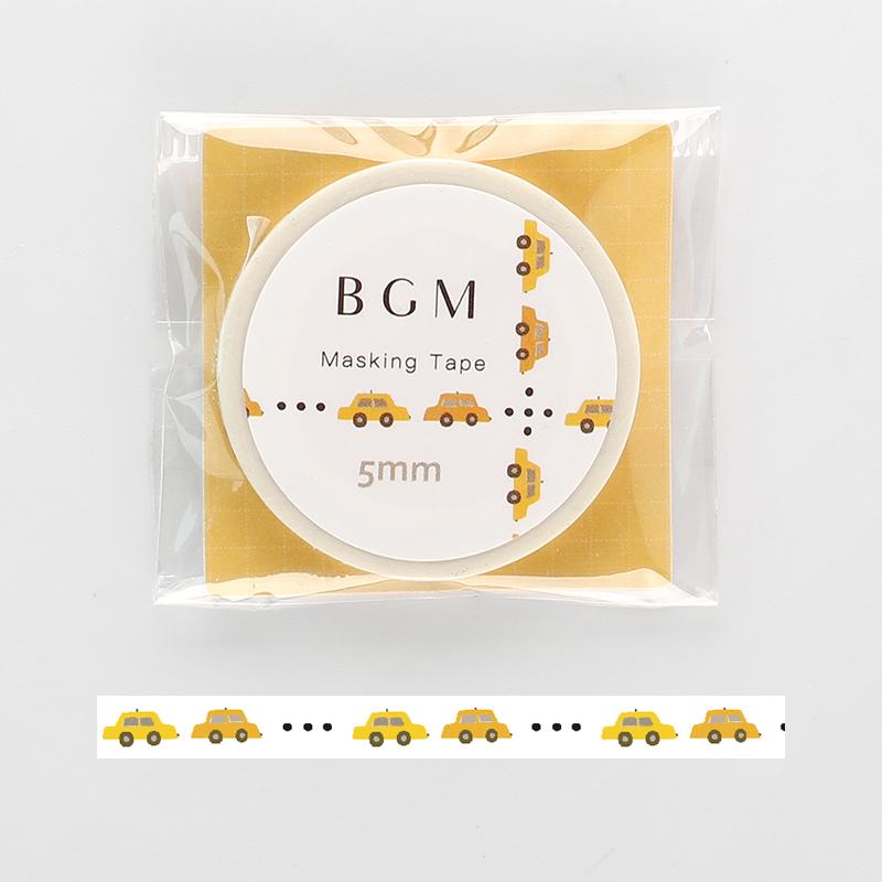 【BGM】和紙膠帶細版Life系列-黃色小車