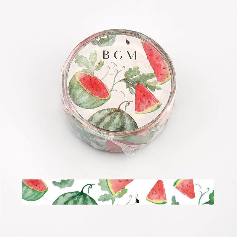 【BGM】和紙膠帶2019夏限定系列-西瓜