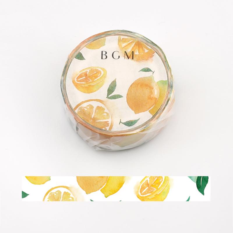 【BGM】和紙膠帶2019夏限定系列-檸檬