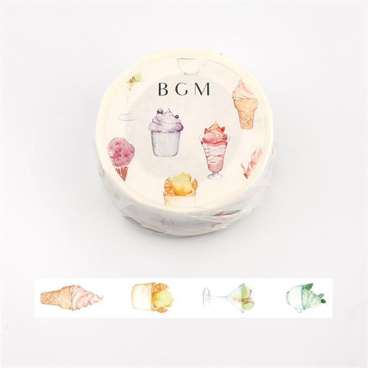 【BGM】和紙膠帶2019夏限定系列-冰淇淋