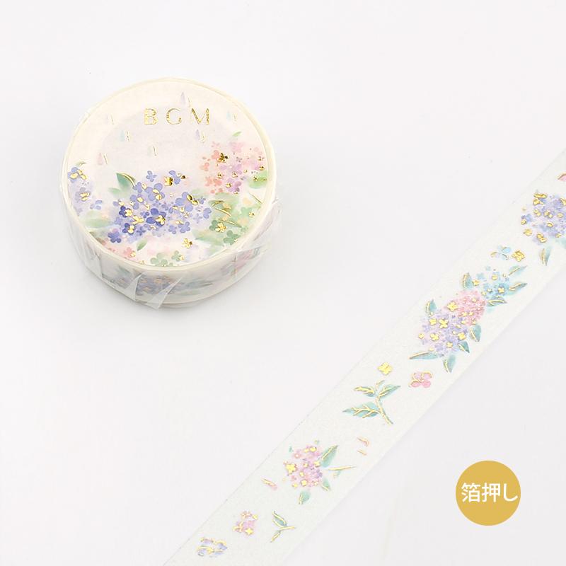 【BGM】和紙膠帶2019夏限定金箔系列-繡球花