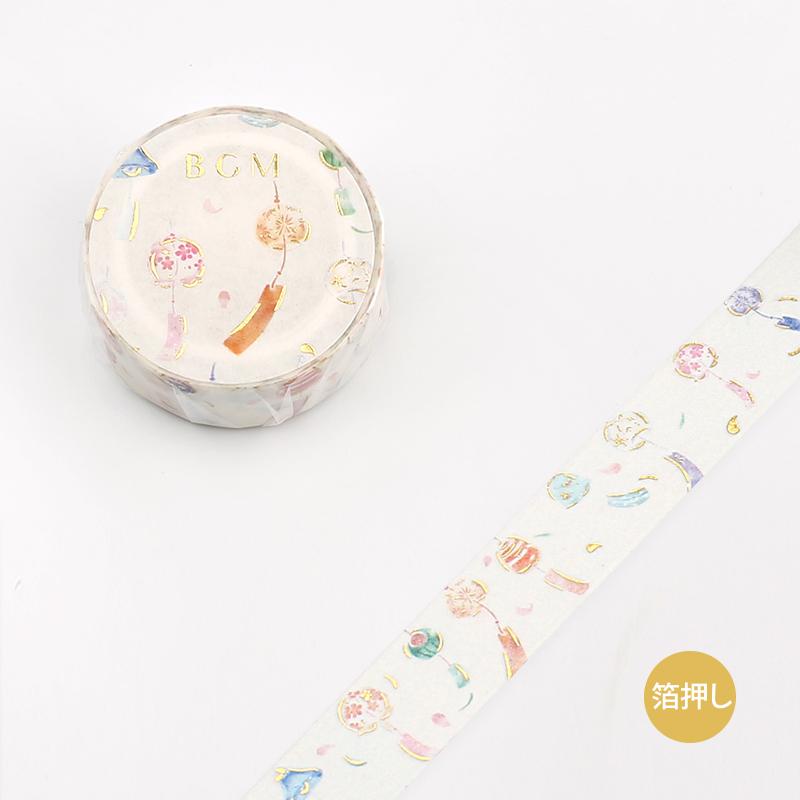 【BGM】和紙膠帶2019夏限定金箔系列-風鈴