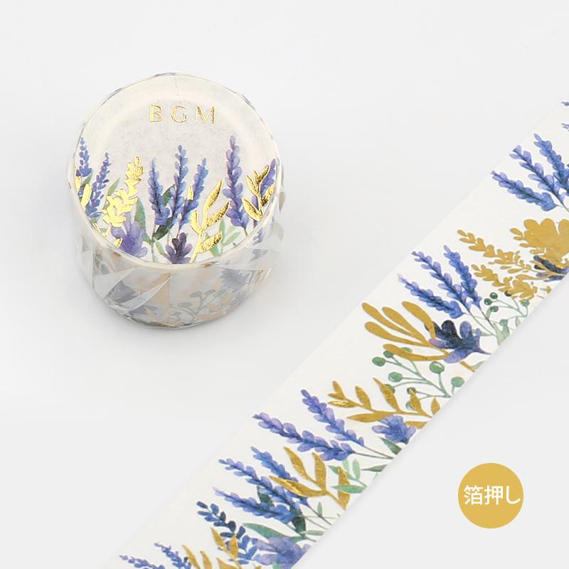 【BGM】和紙膠帶2019夏限定金箔寬版系列-薰衣草
