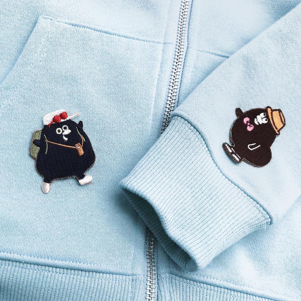 奧樂雞刺繡裝飾貼-旅行