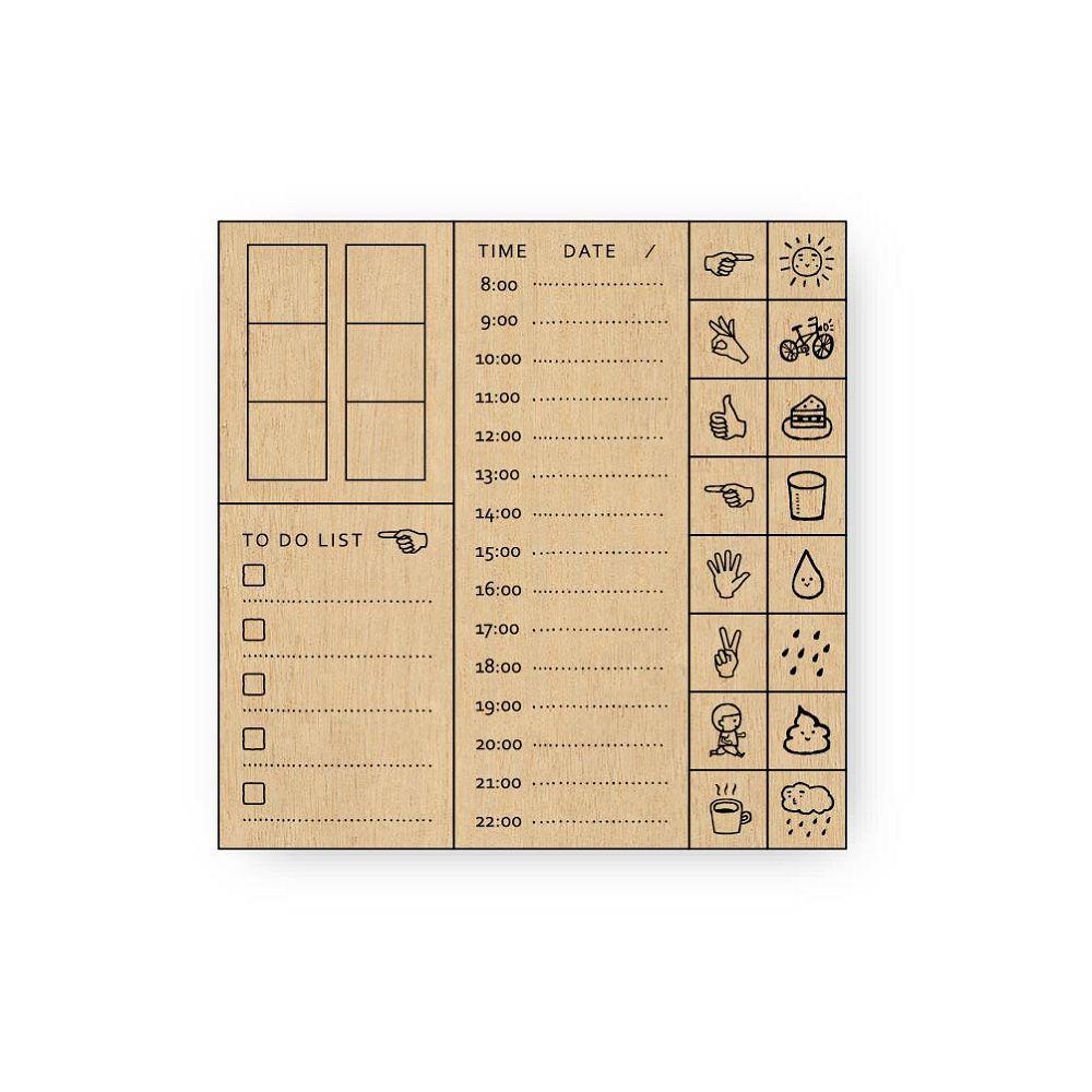 簡單生活-禾木印章組-規劃記錄