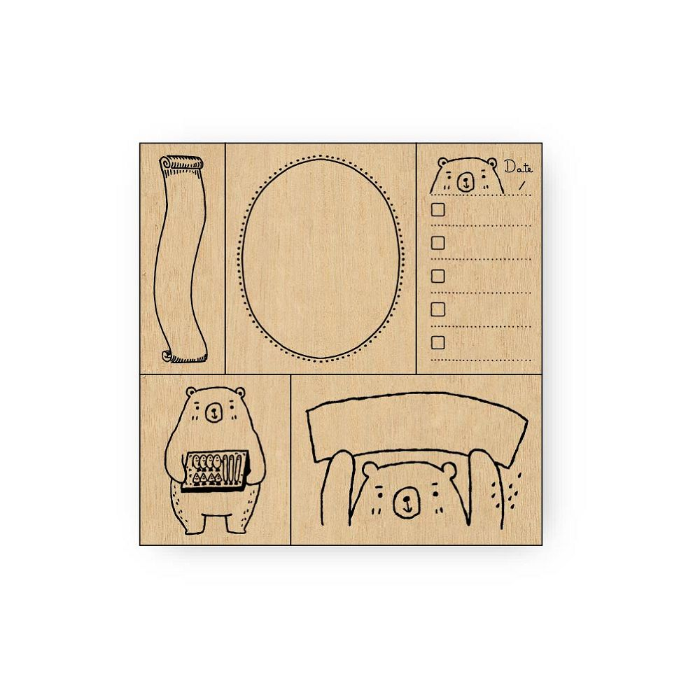 簡單生活-禾木印章組-熊好用