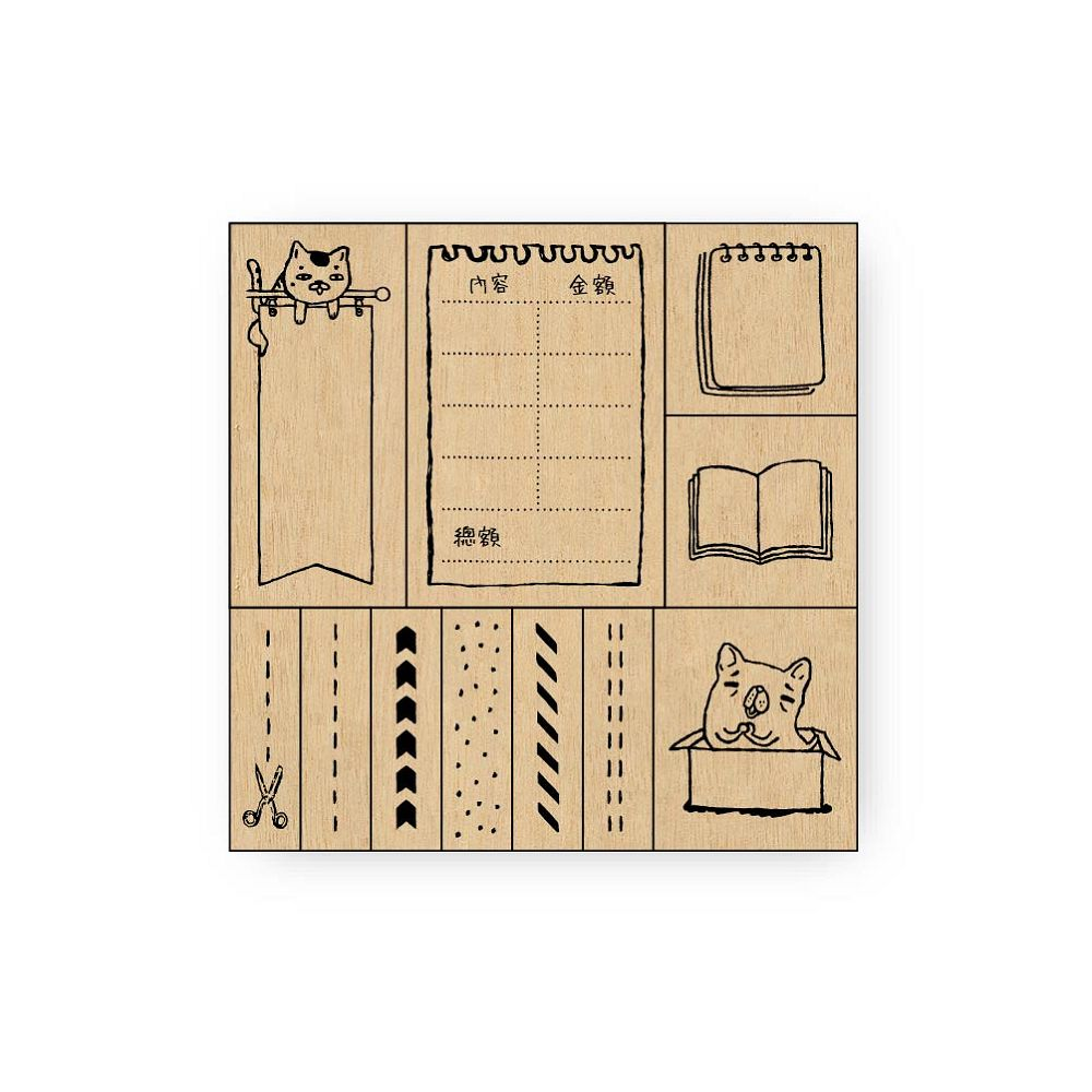 簡單生活-禾木印章組-記帳裝飾