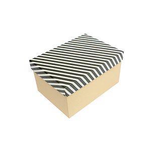 【柏格文具】幾何風禮物盒 L 黑