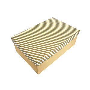 【柏格文具】幾何風禮物盒 XL 金