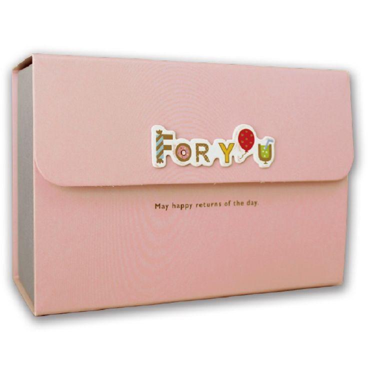 【三瑩】新文彩立體貼中禮物盒(粉)