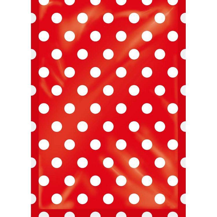 【四季紙品禮品】紙底透明禮物袋(小)-紅點
