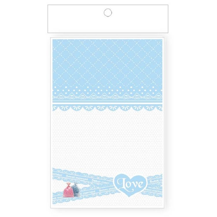 【青青】簡單生活-心祝福小禮物袋-粉藍