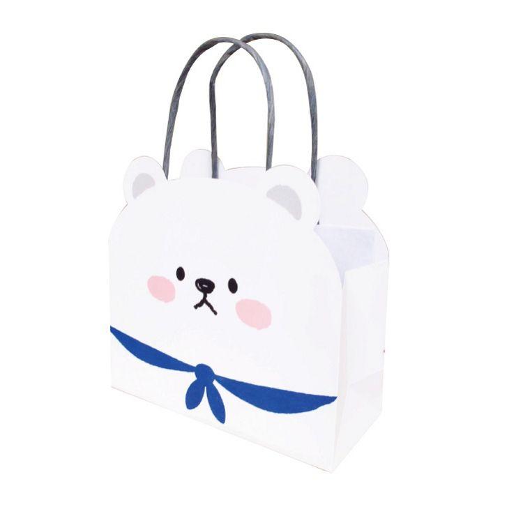 動物造型提袋(小)A-白熊