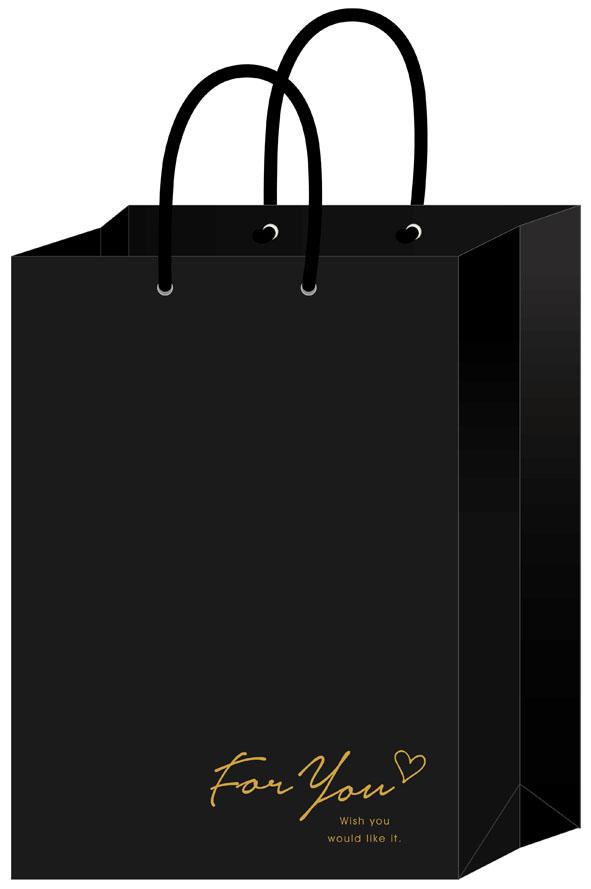 【四季紙品禮品】手提袋直式加大-黑字