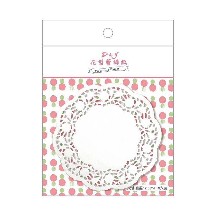 簡單生活-花型蕾絲紙10入-小