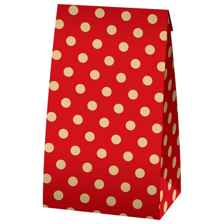 【四季紙品禮品】牛皮立體袋(大)-紅點