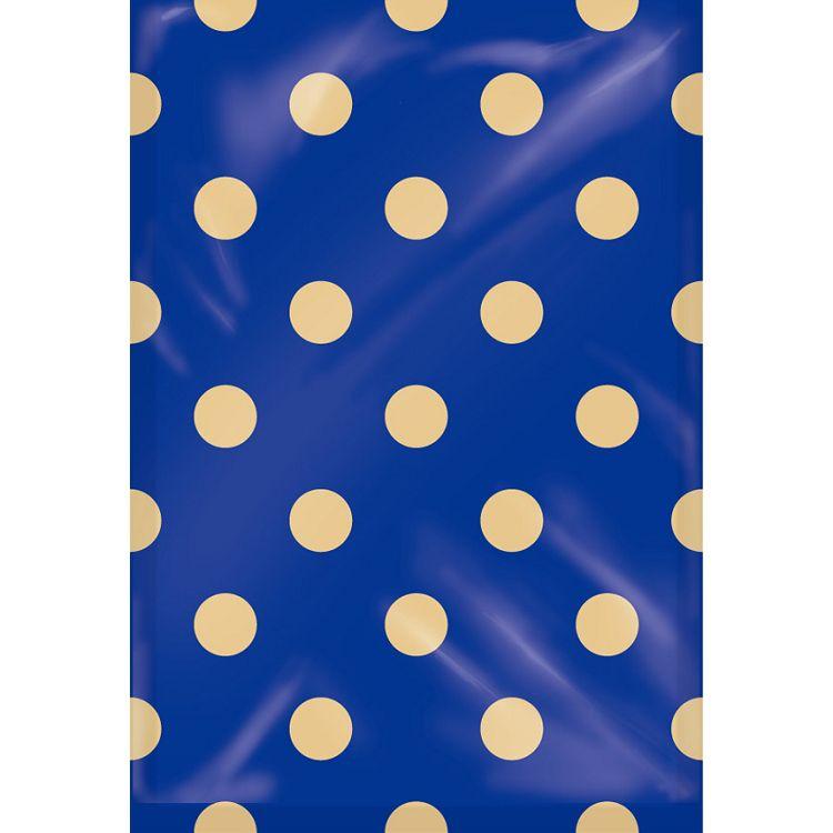 【四季紙品禮品】紙底透明禮物袋(中)-藍底點點