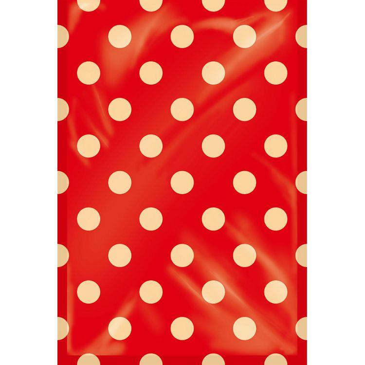 【四季紙品禮品】紙底透明禮物袋(大)-紅底點點