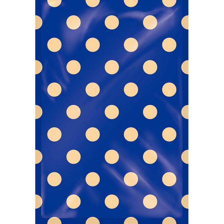 【四季紙品禮品】紙底透明禮物袋(大)-藍底點點