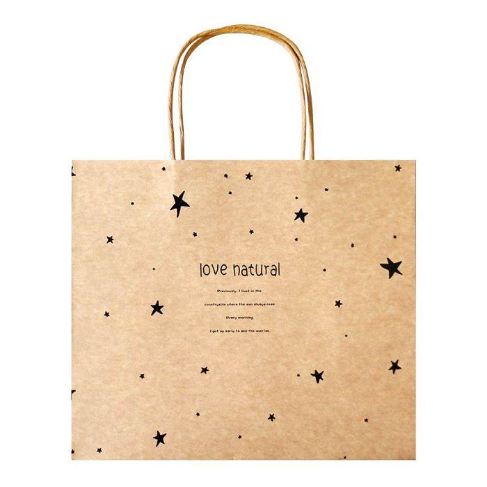 【青青】簡單生活-大牛皮禮物提袋-星星