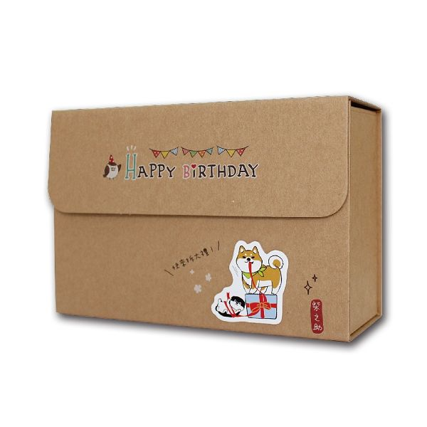 柴之助立體貼禮物盒(中型)-牛皮