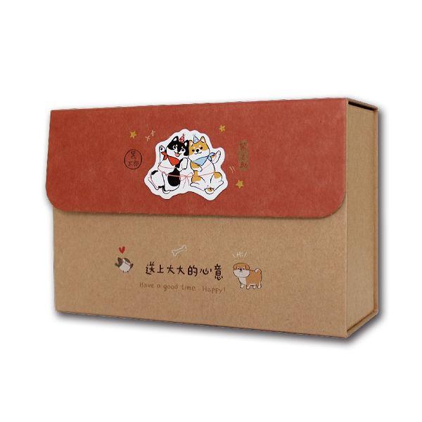 柴之助立體貼禮物盒(中型)-紅