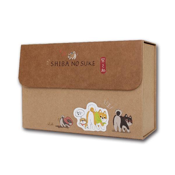 柴之助立體貼禮物盒(中型)-淺棕