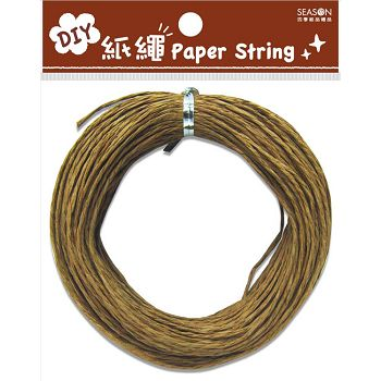 【四季紙品禮品】DIY紙繩20m-淺褐