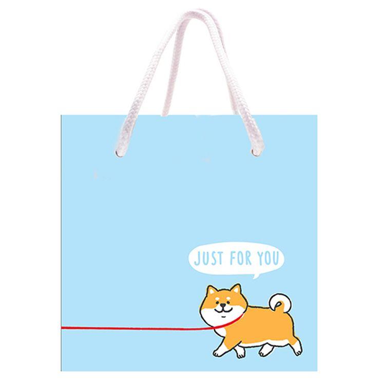 柴犬四方禮物提袋(小)-散步