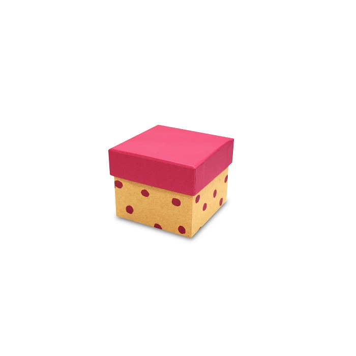 【柏格文具】幾何風禮物盒S-點點紅
