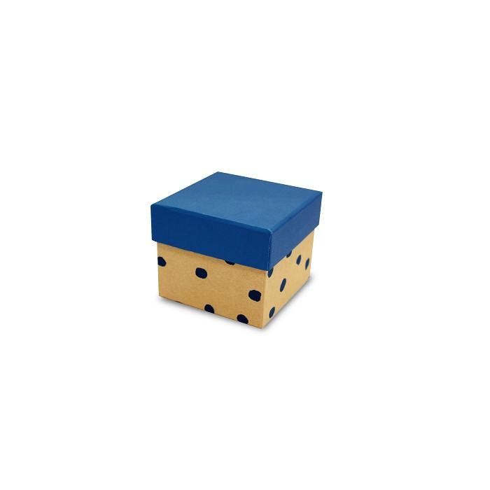 【柏格文具】幾何風禮物盒S-點點藍