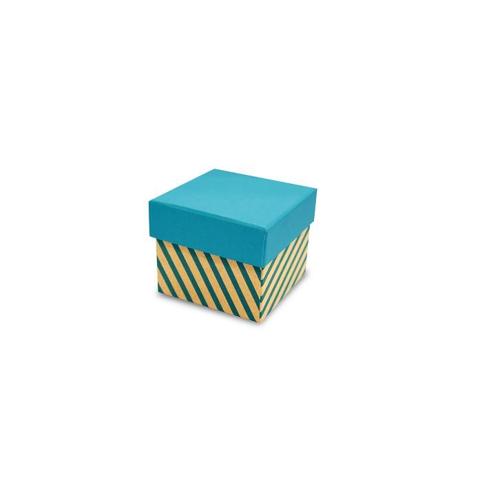 【柏格文具】幾何風禮物盒S-斜線淺藍